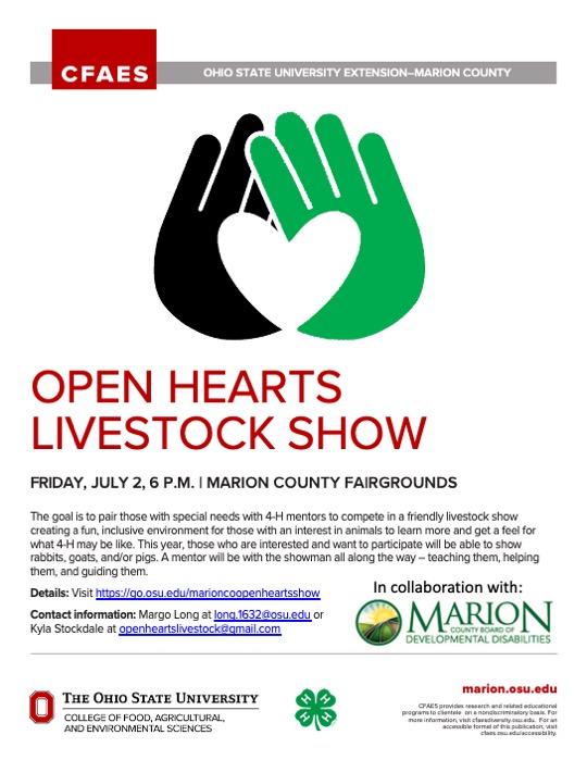 Open Hearts flyer